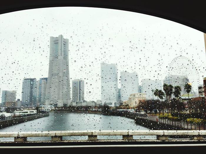 雨〜モノクロの景色に…車窓から