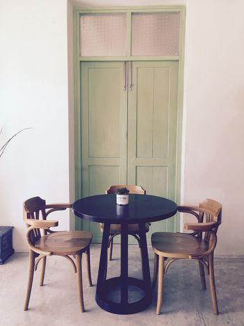 Two is better than one! Table For Two Wooden Table Set Coffee And Tea Time Tranquillity Keep Calm And Always Smile Vintage Style Vintage Moments Vintage Relaxing Enjoying Life Beauty In Ordinary Things