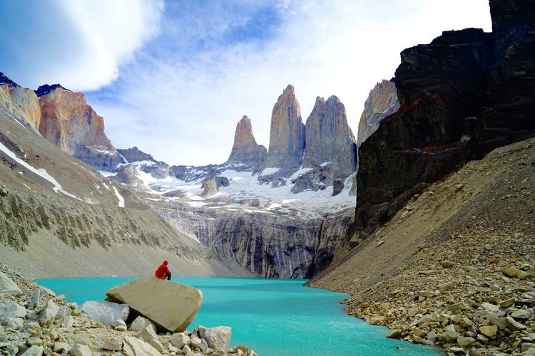 People And Places hiker Feel The Journey Original Experiences Landscape Nature Nature Photography Mountains Hiking Traveling Turquoise Water Las Torres Torres Del Paine Chili  Showcase June