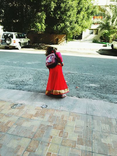 Kenzy💘 My Little Princess Indian Style Kwiat Traditional Clothing Day Rear View Outdoors One Person Street Women