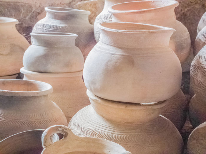 earthenware EyeEm Selects Clay Earthenware Business Finance And Industry Variation Terracotta Retail  High Angle View Close-up Pottery Pot Molding A Shape Craft Product Handmade Market Market Stall Dreamcatcher Decorative Urn