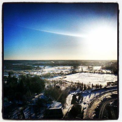 Dannemora on the roof :) Dannemora Sky Beautiful Sun amazing sunset sunriseindustrie