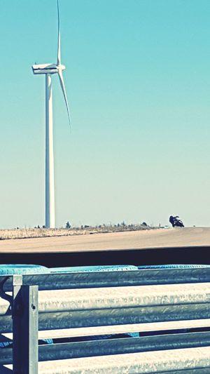 Hubbie on Gotland Ring, Sweden Wind Turbine Wind Power Joy Ride LivingOnTheEdge Roadracing Bmw Motorcycle