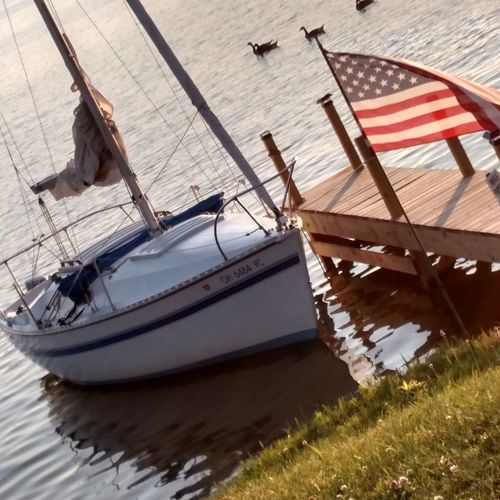 Signs Of Summer Sailboat American Flag American Pride On The Lakeshore Let The Fun Begin Geese Family Guilford Lake Lisbon Ohio Man Made Lake A Perfect Day Enjoying Life My Own Photography Happy Fathers Day Hanging Out Taking Photos Relaxing June 2016
