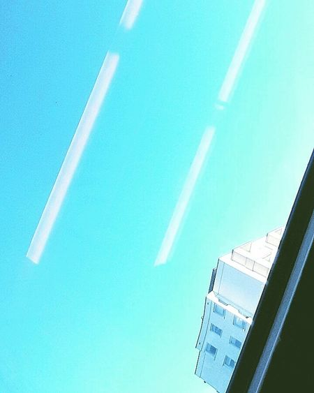 Blue Archival No People Close-up Day Architecture Destination This Week On Eyeem Lines And Lights EyeEm Sky Travel Lines Parallel Lines Blue Color Blue Skies Building Moderndesign Graphical Modernist