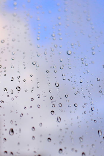 EyeEm Best Shots Eye4photography  Getting Inspired Rain RainDrop Rainy Days Rainy Season Water Water Drop Drop Wet Full Frame No People Backgrounds Close-up Transparent Focus On Foreground Glass - Material Day Window Sky Indoors  Pattern Glass Purity Textured  My Best Photo
