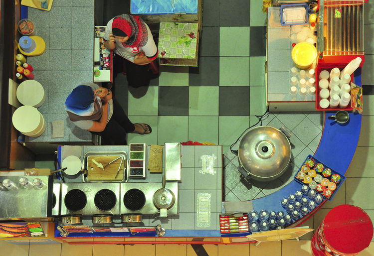 Arrangement Casual Clothing Choice Colors Colours Day Food And Beverages Food And Drinks Food Stalls Layout Leisure Activity Lifestyles Multi Colored People Shapes Side By Side Stalls Variation View From Top