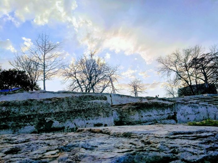 Winter Trees And Sky Texas Skies Texas Rocks Stone Water Bird Sky Cloud - Sky Snow Covered Tranquility Snowcapped Calm Cold Snow Tranquil Scene Weather Scenics