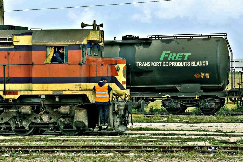 Mode Of Transport Outdoors Transportation Day Locomotive Train - Vehicle Train_of_our_world Train Track Train Station Train Trainphotography Trainstation Travelling Transport Job Work Jobtime Job Of The Day