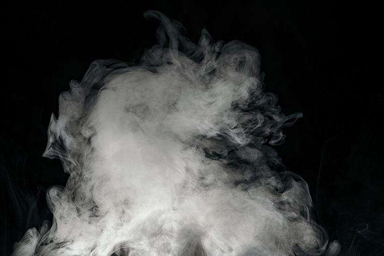 Smoke cloud on black background Dark E-Cigarette Flowing Smoke Steam Vapor Abstract Background Backgrounds Black Cloud - Sky Dynamic Effect Fire Fog Foggy Illuminated Mist Motion Purty Smog Smoke - Physical Structure Smoker Swirl Vape