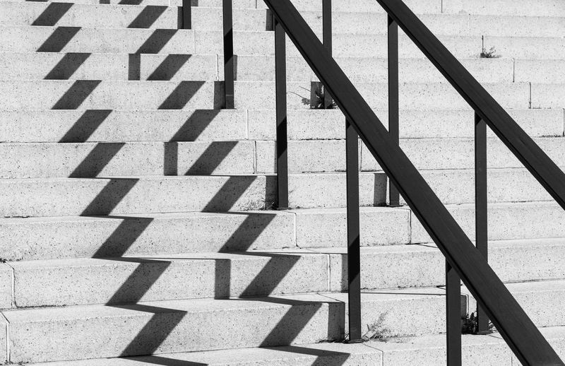 Best Of Stairways Railing Absence Architecture Black And White Built Structure Concrete Day Empty Focus On Shadow Footpath High Angle View Ladder Light And Shadow Metal Nature No People Outdoors Pattern Railing Repetition Safety Shadow Staircase Steps And Staircases Sunlight Sunny Zickzack