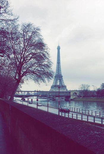 Paris EiffelTower Beautiful Cold Seine