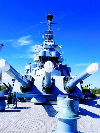 Majestic Built Structure Sky Day No People Outdoors Technology Tourism Travel Destinations Battleship Ussnorthcarolina