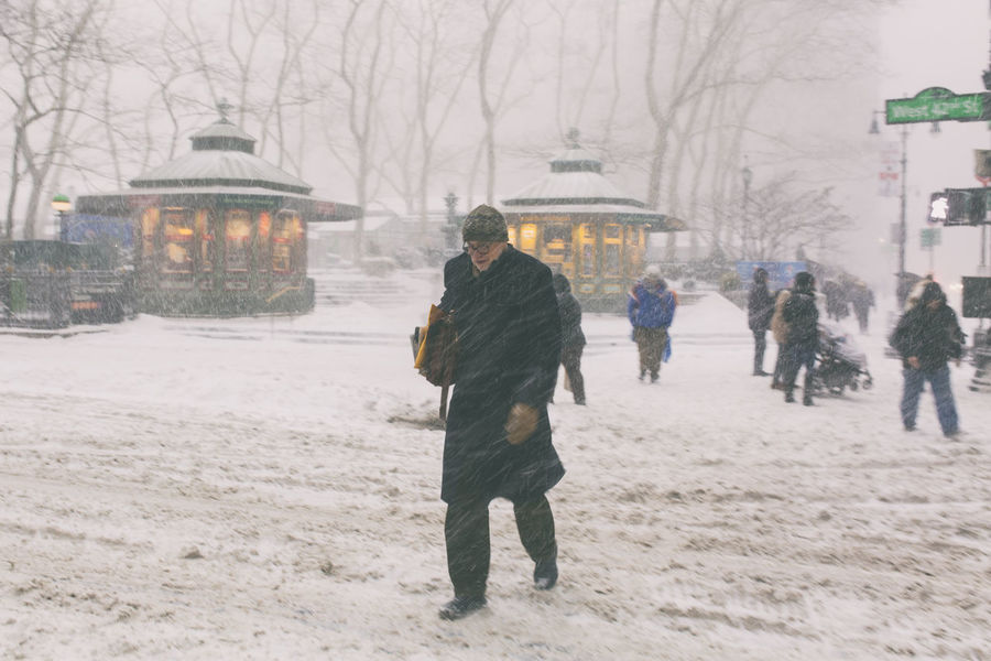 The frozen NYC Bryant Park NYC New York City Storm Times Square NYC Winter Architecture Building Exterior Day Outdoors Snow