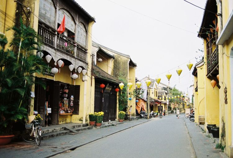 Quiet morning in Hoi An Analogue Photography Film Hoi An Hoi An, Vietnam Morning Quiet Places Vietnam Accient Architecture Building Exterior Built Structure City Da Nang Empty Empty Road Film Photography Filmisnotdead French Colony Little Town Oriental Outdoors Relax Travel Destinations Traveller Yellow Building