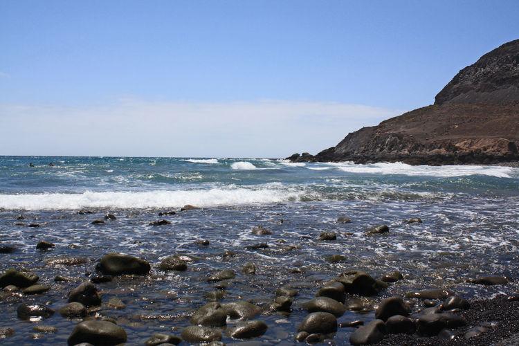 Jable Landscape Ocean Sky Beach Beauty In Nature Canary Islands, Coast Day Fuerteventura Coast Horizon Over Water Island Morro Morro, Nature No People Outdoors Rocks Scenics Sea Sea And Sky Sky Tranquil Scene Water