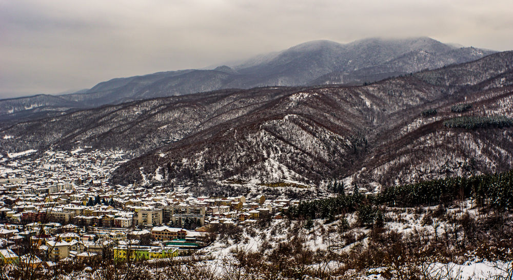 Peshtera, Bulgaria Sony A5100 Bulgaria Peshtera Cold Cottage City Cityscape OverviewPoint Snow Landscape Outdoors No People Scenics Nature Cold Temperature Day Mountain Range Winter Tree Beauty In Nature Sky
