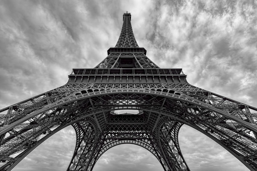 Eiffel Tower Architecture Black And White Blackandwhite Built Structure Capital Cities  City Cloud Culture Eiffel_tower  Eiffel Tower EyeEm Best Edits EyeEm Best Shots EyeEm Best Shots - Black + White EyeEm Gallery Famous Place France History International Landmark Landmark Paris Paris ❤ Sky Tower Travel Showcase April