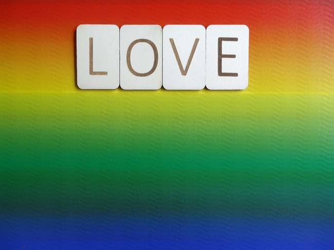 Love Lgbt Pride Lgbt Pride Lgbt Rainbow Colors Rainbow Typography Wooden Letters Word Love Green Color Textured  Text Yellow No People Backgrounds Multi Colored Communication Full Frame Indoors  Day Close-up