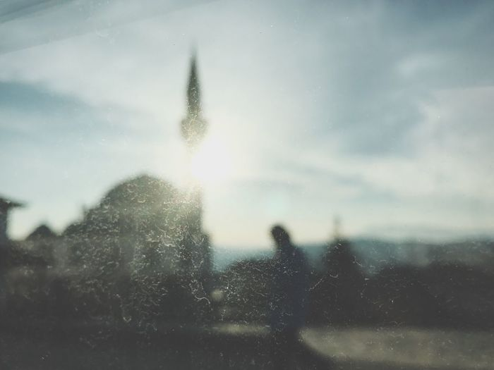 Bulgarian Mosque against the sun rise Sky Motion Background Wallpaper Defocused No People Day Nature Outdoors RainDrop Close-up Man Mosque Islam Blurred Motion Contre-jour Contrejour Contre Jour Contre-jour Shot Window Dirt Beam Light
