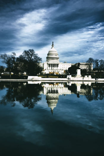 Nations capitol! two days after Trumps inauguration. Architecture Capitol Building Dark Sky Historical Building Nikon D810 Reflection Capitol Hill High Contrast Horizontal Symmetry No People Hotel Art