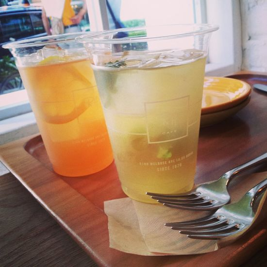 千駄ヶ谷のRonHerman cafeでお茶♡good sunday! Tea Time Cafe Ron Herman Lemonade
