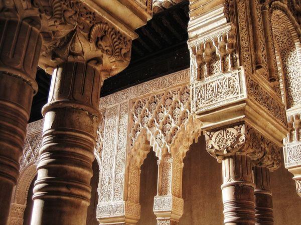 Detail Filigran Palace Moorish Moorish Architecture EyeEm Selects Architecture Architectural Column History Built Structure Travel Destinations Low Angle View Tourism No People Ancient Civilization Ancient Travel Indoors