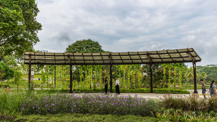 Marsiling Park, previously known as Woodlands Town Garden. A really idyllic park. I really enjoyed the peace and quiet here back in June 2018. Here people chat under the shelter Public Park Chatting Cloud - Sky Nature Shelter Sky Tranquil Scene