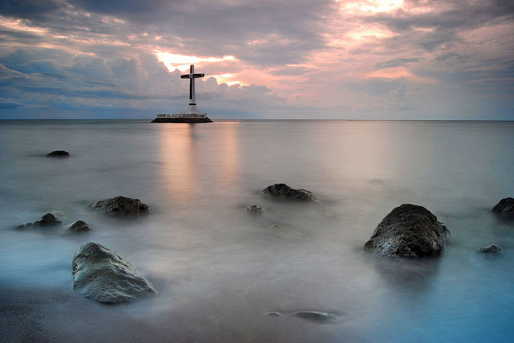Water Sea Tranquil Scene Scenics Horizon Over Water Beauty In Nature Seascape Dramatic Sky TakeoverContrast Eyemphilippines Photography