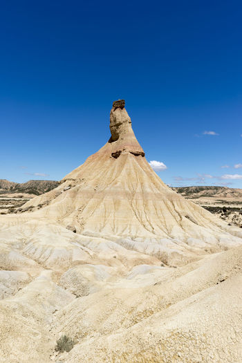 Bardenas Reales Desert Nature Rural SPAIN Arid Climate Beauty In Nature Blue Clear Sky Day Desert Geology Landscape Mountain Nature Navarra No People Outdoors Physical Geography Rural Scene Scenics Sky Tranquil Scene Tranquility