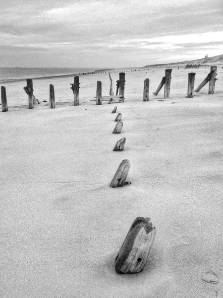 Shades Of Grey East Yorkshire Snapseed IPhone Black And White Beach Spurn Point IPS2016Composition
