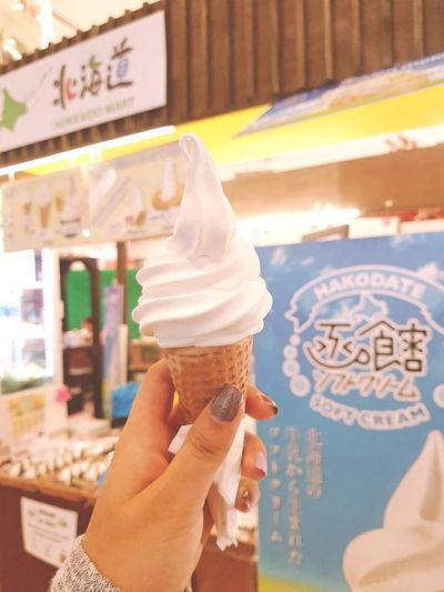 My favorite one. Hokkaido Milk Softcream 💕 MyFavorite  Likeit ♡ Lovetoeat Icecream Softcream Japanese Food Eatalot Frozen Food Sweet Food Yummy♡