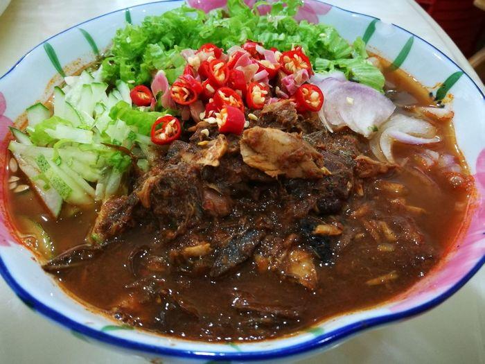 Asamlaksa Penangasamlaksa LaksaPenang Homecooked Penang Food Localfood Penang Malaysia Bestfoodintown Spicy Noodles Streetfood Hawker Food Foodphotography Foodlover