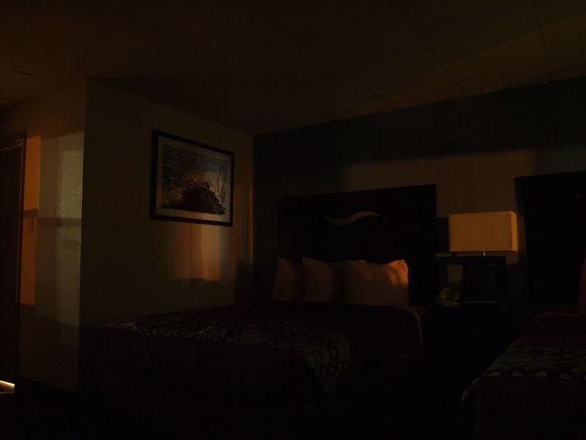 Dark EyeEmNewHere Bed Bedroom Darkness And Light Empty Hotel Indoors  Long Exposure No People