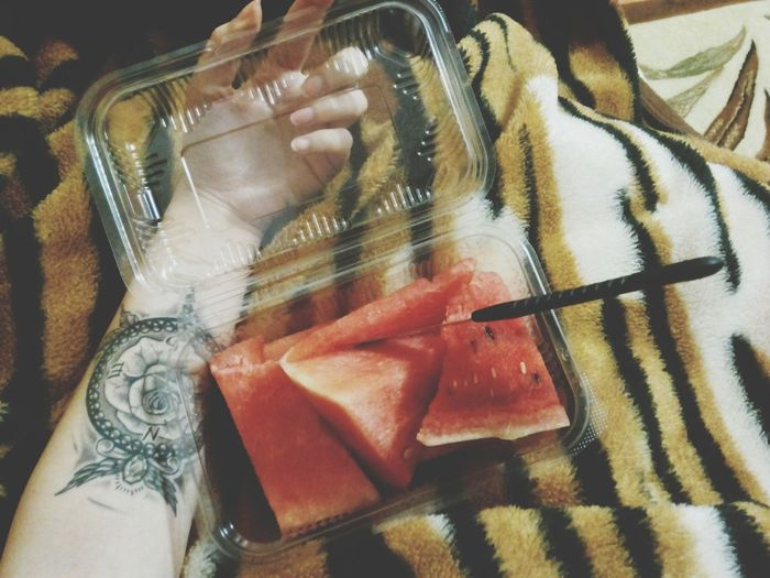 Time For Breakfast  Today Morning Fresh Day Early Morning Eating Healthy Watermelon🍉