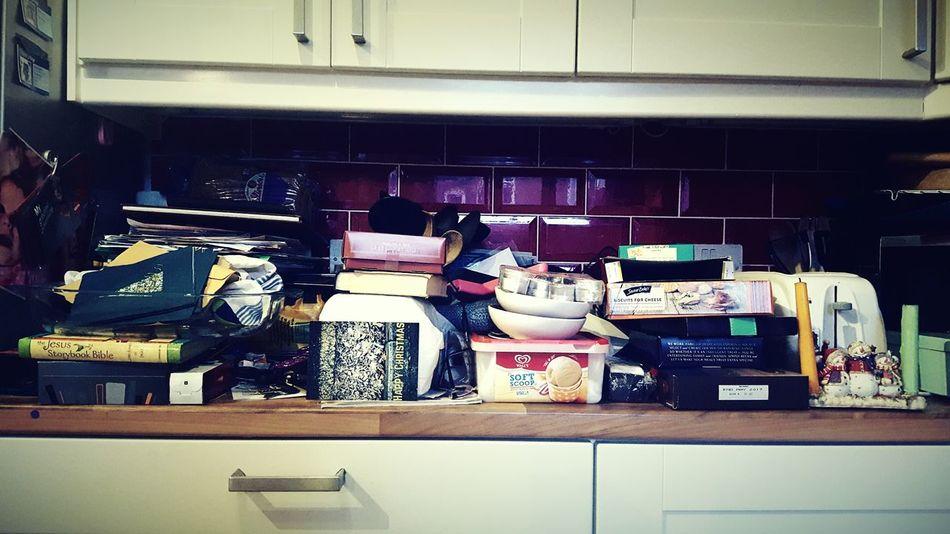 This Is Christmas day 30. Clutter Stuff On The Side Messy In The Kitchen