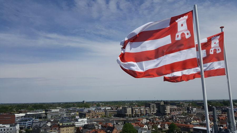 AZ Alkmaar❤️ Architecture City Cloud - Sky Environment Flag Kaasstad Klim Naar De Hemel Prachtstad Pride Red Sky Wind