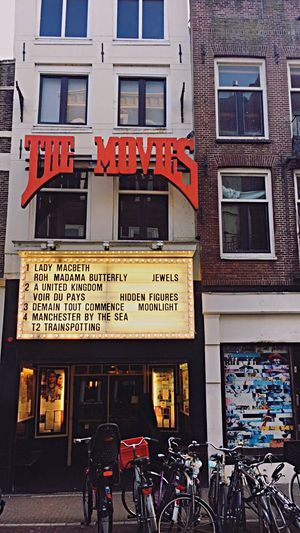 Amsterdam MOVIE The Movie  Text Building Exterior Architecture Bicycle City City Life Outdoors Travel