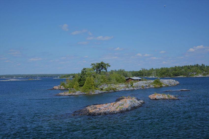 Landscape House Island Lake Parrysound Rock - Object Sky Tree