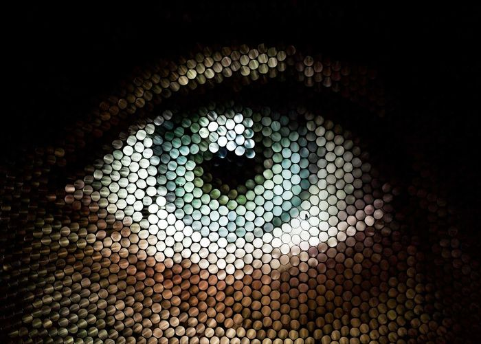 Eye Straw Straw Camera Straw Photography Backgrounds Abstract Pattern Black Color Full Frame Multi Colored Close-up Pixelated Mosaic Circle Circular Visual Creativity The Creative - 2018 EyeEm Awards