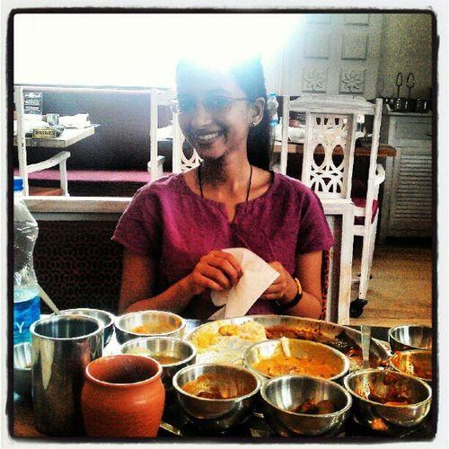 Rajasthani thaali with Shalini
