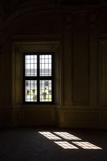 Sunlight falling through window of house