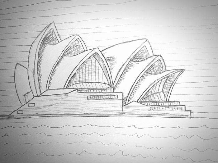 Draw the Sydney Opera House with just a Pencil Drawing Do What You Want Speedart