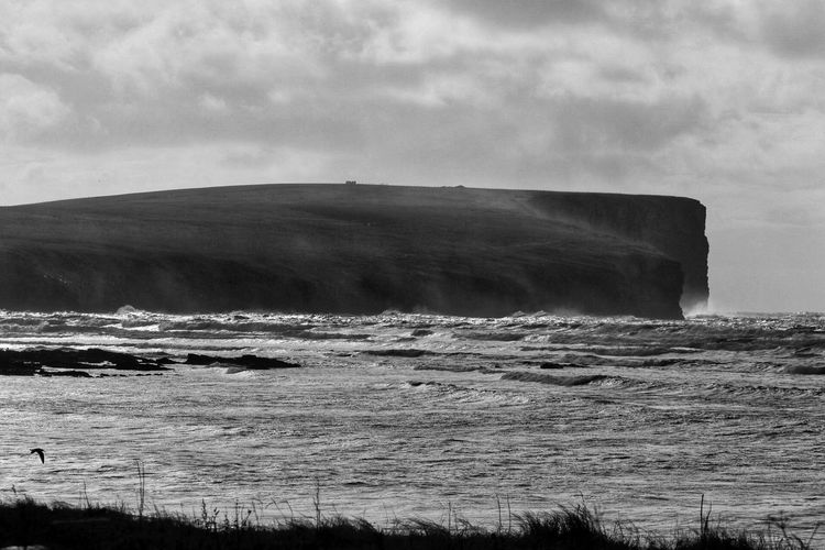 Nature EyeEm Gallery Physical Geography Beauty In Nature Outdoors Scenics Landscape Water Sea Power In Nature Eye4photography  Blackandwhite EyeEm Best Shots The Week On EyeEm Orkney Islands Black And White Friday