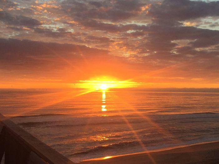 Sunrise over the Atlantic Ocean Sun Water Sky Sea Nature Sunlight Cloud - Sky Sunrise Beach Scenics Outdoors Horizon Over Water Vacations Ocean Atlantic Ocean Outer Banks, NC Rodanthe Nature Beauty In Nature