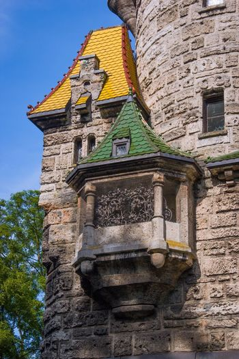 Citylife Summer Tower Old Buildings Germany Colorful Roof Tile Roof Ancient Architecture Architecture Exterior Building Bavaria Landsberg Am Lech  Bayern Hubertvonherkomer Mutterturm Bayern Germany Architectural Detail Turret Erker Bay Bay Windows Bay Window