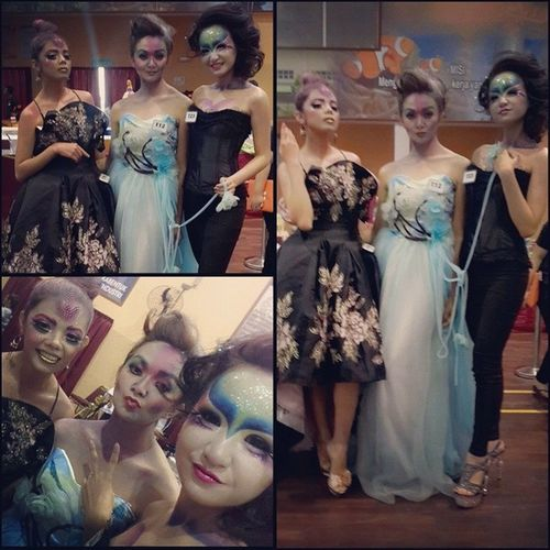 This my favorite photos! ??? With these two beautiful dolls! SabahSkill Makeupmodel FaceArts MUAH by @see_monica_lip ❤