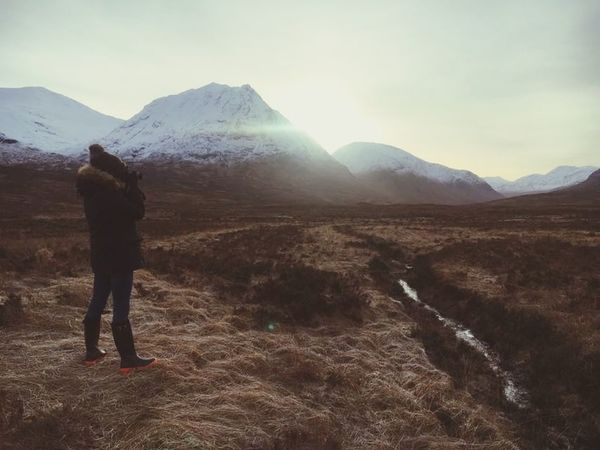 Scotland Glencoe Mountain Resort Glencoe Home Happy Love Glencoe Scotland Mountain Rear View One Man Only Adults Only One Person Adult Only Men Mountain Range Landscape Nature Adventure Hiking Beauty In Nature Scenics Day Outdoors