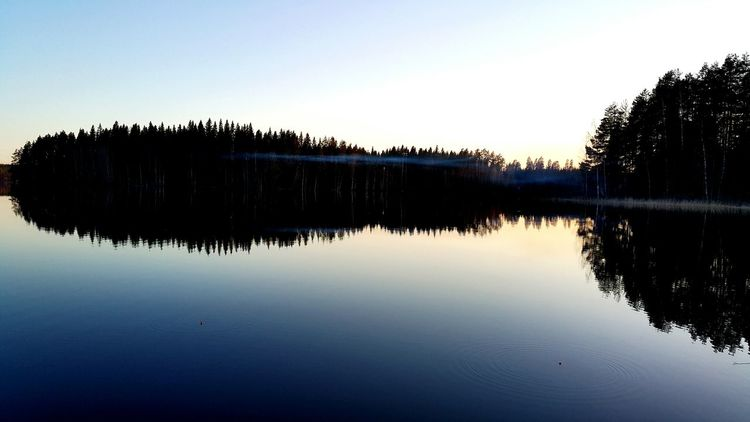 EyeEm Selects Reflection Lake Tranquility Water Sky Nature Finland Mänttä