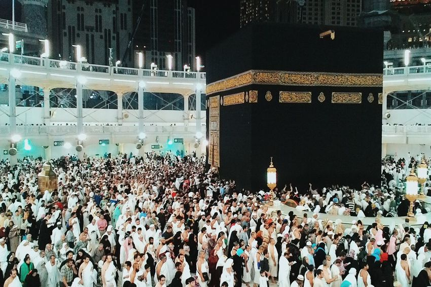 Connected with God. God Moeslem Islam Hollyland Ka'bah Pilgrimage Pilgrims Architecture Mecca Arab Saudi Arabia